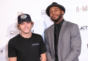 Cal Scruby and director JR Strickland attend the premiere of 'A-Minor' at Raleigh Studios in Hollywood.