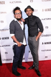 Kawika Banis and director JR Strickland attend the premiere of 'A-Minor' at Raleigh Studios in Hollywood.