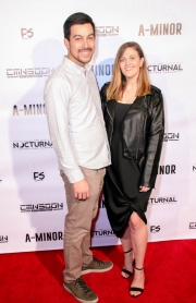 David and Courtney Faltemier attend the premiere of 'A-Minor' at Raleigh Studios in Hollywood.