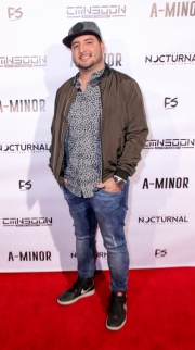 Julio Mata Jr. attends the premiere of 'A-Minor' at Raleigh Studios in Hollywood.