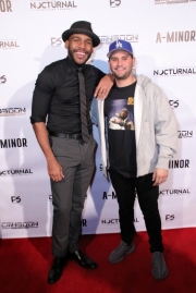 Director JR Strickland and Andrew Sandler attend the premiere of 'A-Minor' at Raleigh Studios in Hollywood.