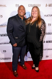 Josue Morales and Tiffany Brenon attend the premiere of 'A-Minor' at Raleigh Studios in Hollywood.