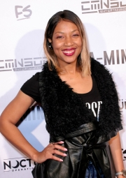 LaTonya Reliford attend the premiere of 'A-Minor' at Raleigh Studios in Hollywood.