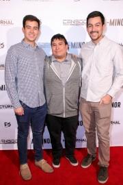 Jacob Faltemeier, Matt Faltemeier, and David Faltemeier attend the premiere of 'A-Minor' at Raleigh Studios in Hollywood.