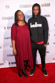 Audience members attend the 'A-Minor' film screening at Raleigh Studios, Hollywood.