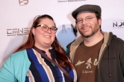 Rob Reider and Becky Ruud attend the premiere of 'A-Minor' at Raleigh Studios in Hollywood.
