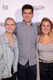 Jacob Faltemeier and friends attend the premiere of 'A-Minor' at Raleigh Studios in Hollywood.