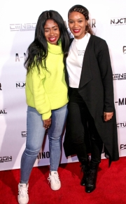 Angela C. Styles and friend attend the premiere of 'A-Minor' at Raleigh Studios in Hollywood.