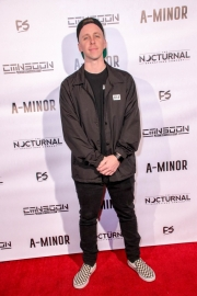 Ben Hagarty attends the premiere of 'A-Minor' at Raleigh Studios in Hollywood.