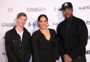 Josh Stoa, Natalie Lizarraga, and Jesty Beatz attend the premiere of 'A-Minor' at Raleigh Studios in Hollywood.