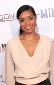 Tarina Pouncy attends the premiere of 'A-Minor' at Raleigh Studios in Hollywood.