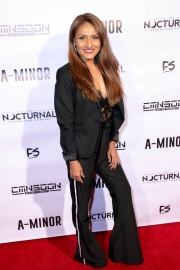 Associate producer Sarah Giovanna Faltemeier attends the premiere of 'A-Minor' at Raleigh Studios in Hollywood.