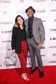 Shannon C. Griffin and director JR Strickland attend the premiere of 'A-Minor' at Raleigh Studios in Hollywood.
