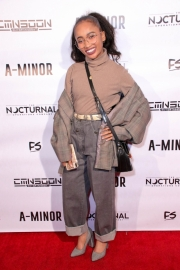 Hanani Taylor attends the premiere of 'A-Minor' at Raleigh Studios in Hollywood.