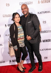 Cinematographer Anthony Kimata and guest attend the premiere of 'A-Minor' at Raleigh Studios in Hollywood.