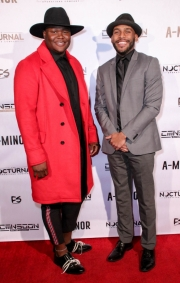Producer Vanda Lee and director JR Strickland attend the premiere of 'A-Minor' at Raleigh Studios in Hollywood.