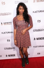 Enjelique attends the premiere of 'A-Minor' at Raleigh Studios in Hollywood.