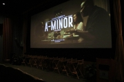 The Raleigh Studios screening room for the Hollywood premiere of 'A-Minor.'