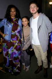 Anissa Williams, Hanani Taylor, and Kristian Maxwell-McGeever attend the premiere of 'A-Minor' at Raleigh Studios in Hollywood.