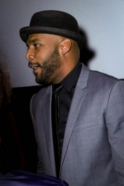 Director JR Strickland attends the premiere of 'A-Minor' at Raleigh Studios in Hollywood.