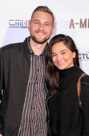 Tobias Winde Harbo and Sophia Harbo attend the premiere of 'A-Minor' at Raleigh Studios in Hollywood.
