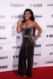 Audience members attend the premiere of 'A-Minor' at Raleigh Studios in Hollywood.