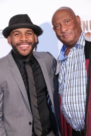 Director JR Strickland and Jerry Strickland attend the premiere of 'A-Minor' at Raleigh Studios in Hollywood.
